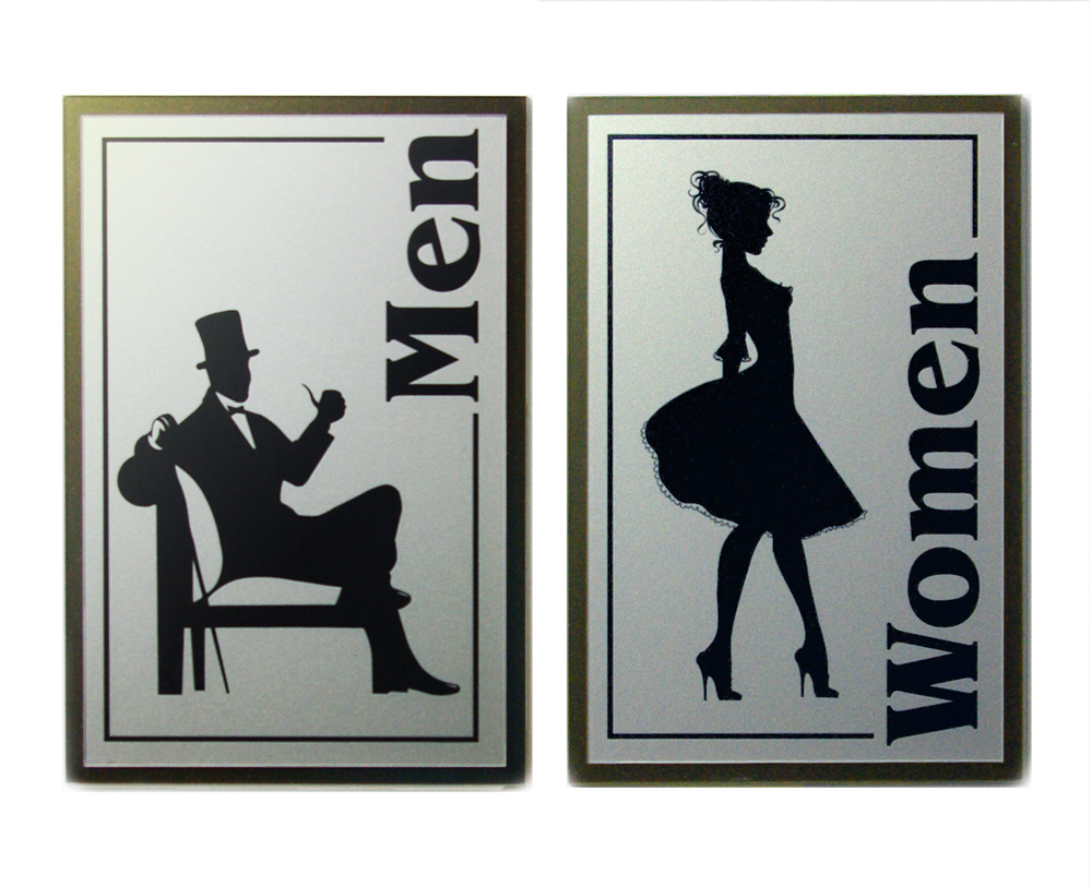 Retro Men Woman Sign