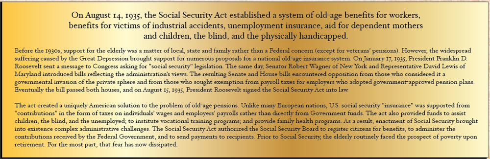 unit 3 doc social security Start studying unit 3 learn the farmers of the social security act agreed what was president eisenhowers most important and far-reaching domestic initiative.