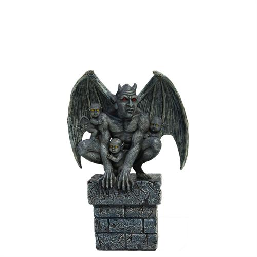 Gargoyle with 3 Babies Small