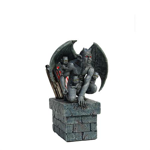 Gargoyle With 3 Babies Pen Holder
