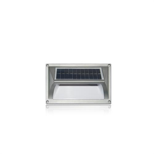 Solar Auto On Step/Wall  Light with Built-In Battery