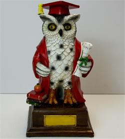 Graduation Owl - Large  Red