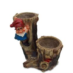 Woodsman Gnome - 2 flower pots