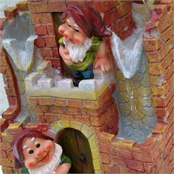 Gnome House Cascading Water Fountain