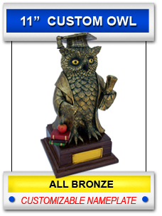 Graduation Owl - Large  Gold