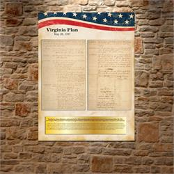 Virginia Plan Replica Print